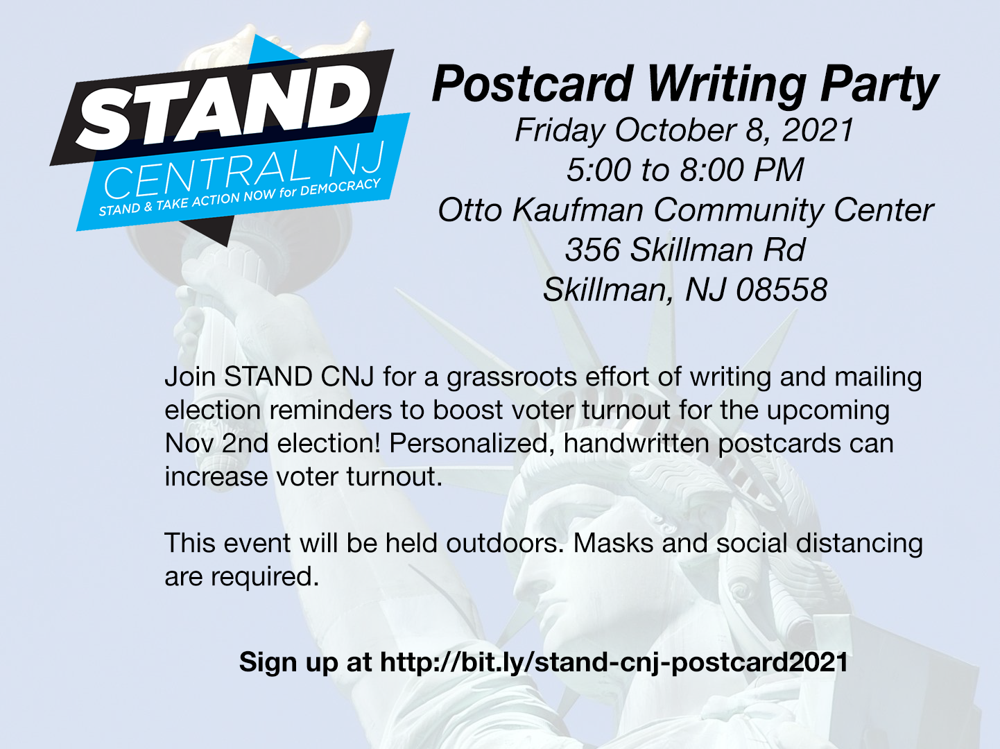Postcard party Oct 8